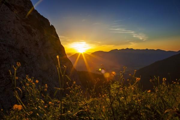 Sonnenuntergang über Mittenwald