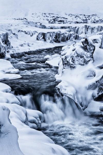 Welt aus Schnee und Eis