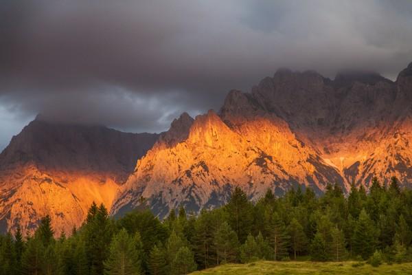 Abendrot am Karwendel