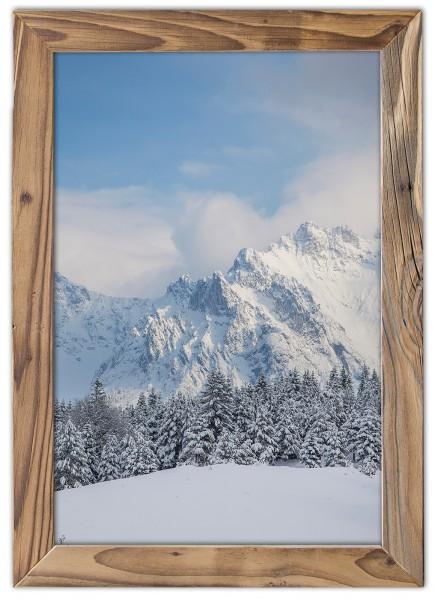 Viererspitze im Winter im Altholzrahmen