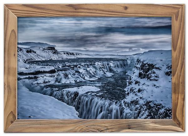 Der Gullfoss Wasserfall im Winter